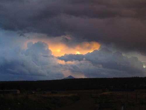 Storm Cloud Storm Clouds Clouds Dusk Sky