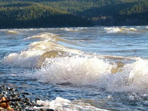 Stormy Canim Lake British Columbia Canada Water