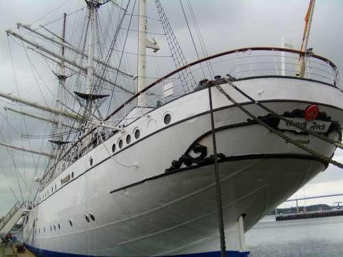 Stralsund Gorch Fock Baltic Sea Sailing Vessel