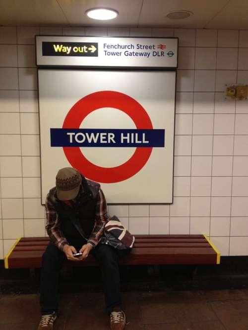 Stranger London Train Station Underground England