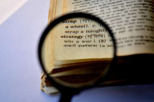 Strategy Magnifier Magnifying Glass Loupe Book