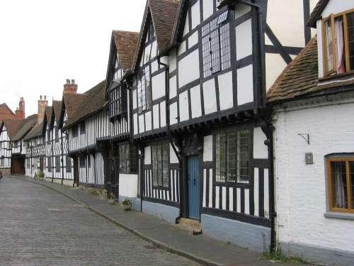 Stratford Half-Timbered Buildings Medieval
