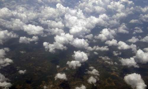 Stratocumulus Clouds Aerial View India