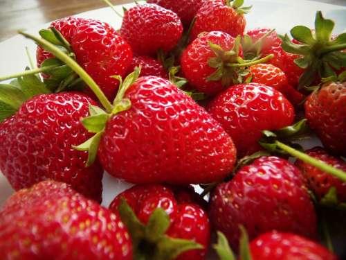 Strawberries Fruit Red Food Sweet