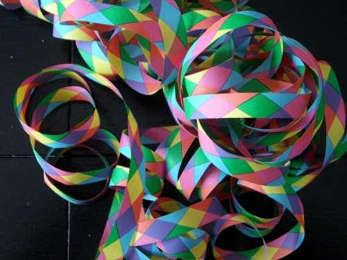 Streamer Colorful Ringed Carnival Fasnet