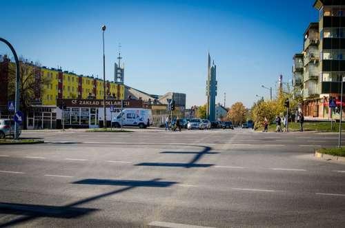 Street City Kielce Tower Church Poland