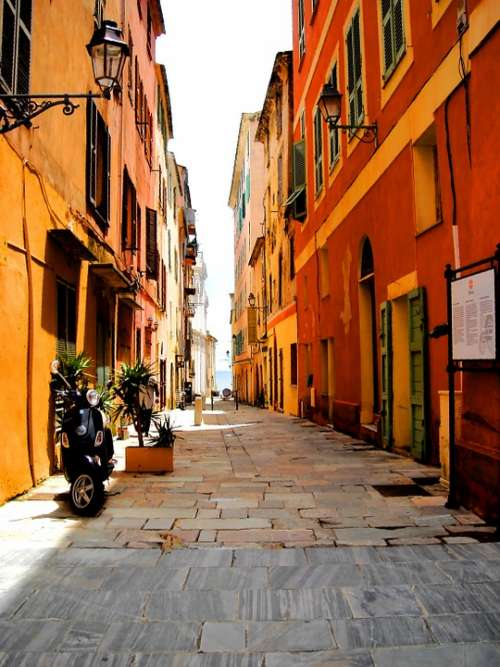 Street Sun Lane Colors Summer Heat Corsican