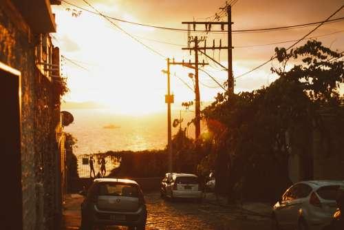 Street Sunset Rent A Car Sol