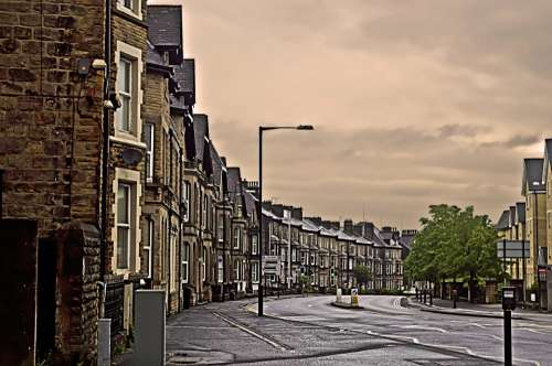 Street City England Architecture Morning Weekend