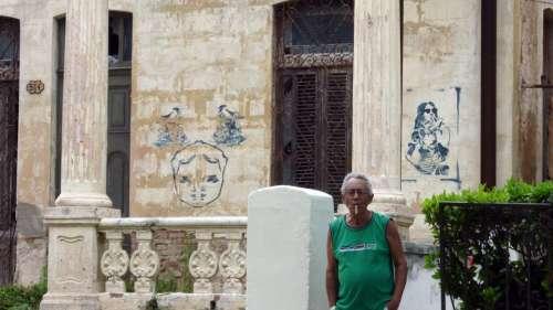 Street Art Graffiti Street Urban Man Cigar Cuba