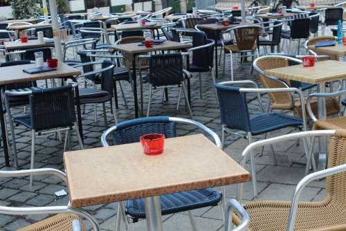 Street Cafe Restaurant Dining Tables Bistro