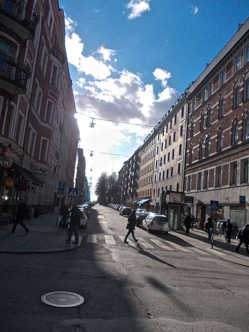 Street Life Facade Södermalm Stockholm