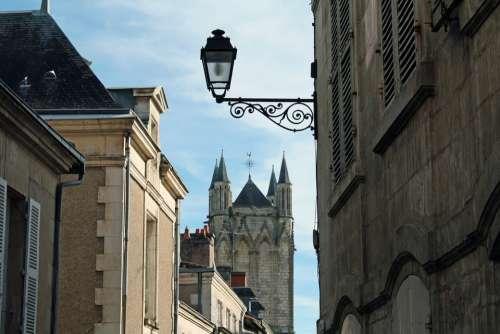 Street Light Church Tower French Street