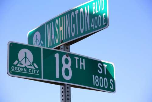 Street Signs Green Signs Location Address