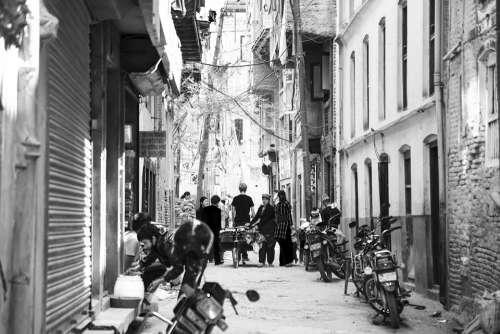 Streets Motorcycle Kathmandu Nepal