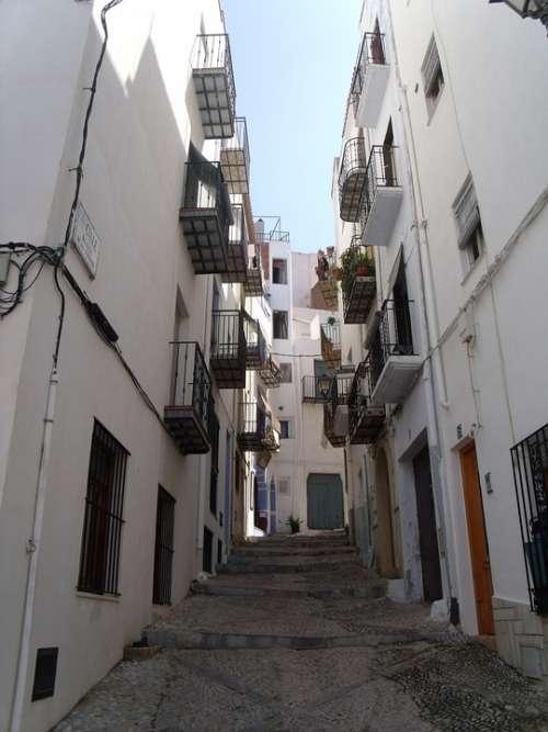 Streets Corners Spain Alleys Empedrado Walk