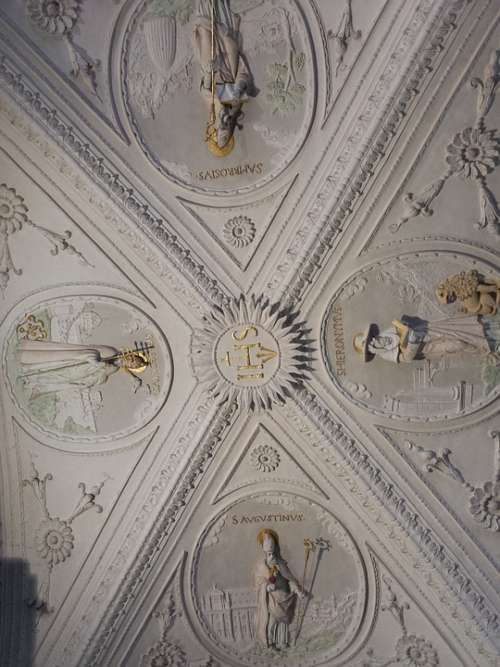 Stucco Ceiling Church Blanket Gothic Art Building