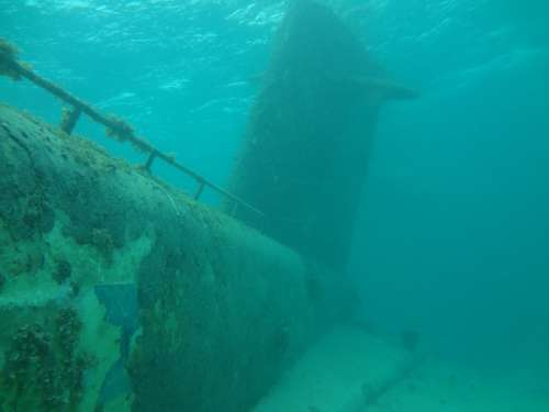 Submarine Ocean Sunken Nautical Scuba Wreck