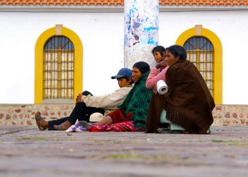 Sucre Spanish Bolivia People Waiting For You