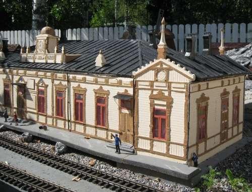Summer Pienoismaa Noark Outdoors Railway Station