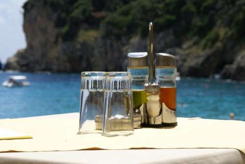 Summer Beach Oil Vinegar Salt Pepper Coast