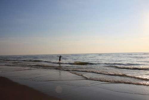 Summer North Sea Coast Sand Wave Nature Holidays