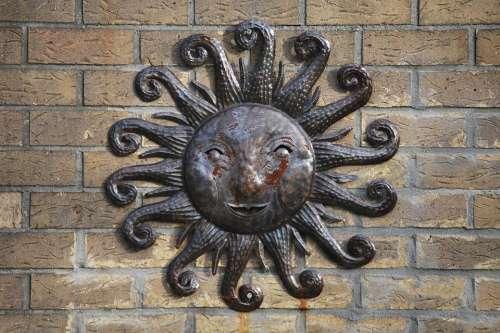 Sun Wall Sun Rays Copper
