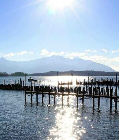 Sun Rays Sunbeam Water Waters Backlighting
