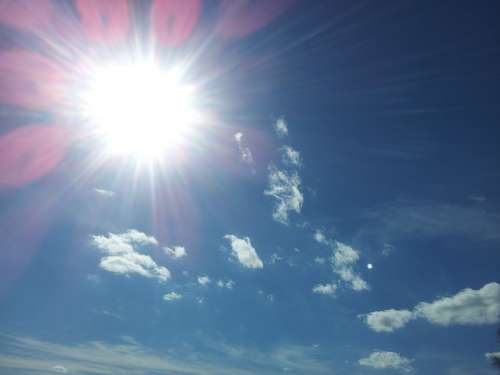 Sun Light Sky Sunbeam Summer Heat