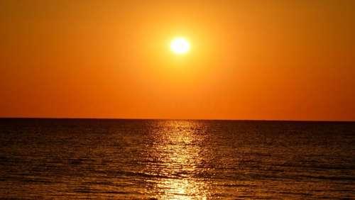 Sun Water Ocean Sunrise