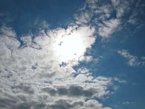 Sun Sunny Sunlight Sky Clouds Summer Color Blue
