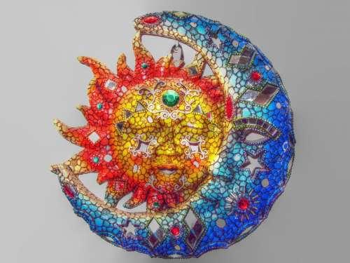 Sun Moon Decoration Crafts