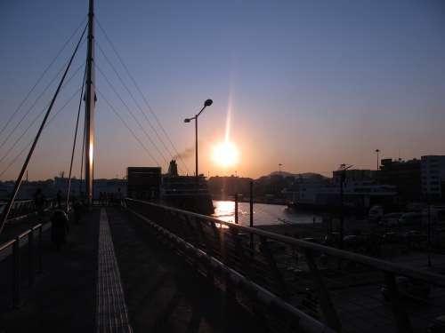 Sun Port Sea Summer Abendstimmung
