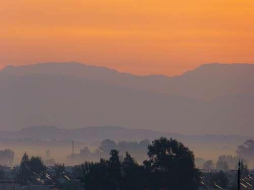 Sun Sunset Abendstimmung Clouds Sky
