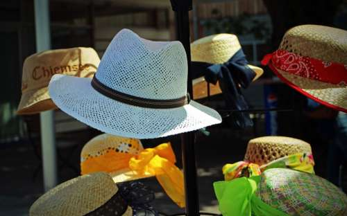 Sun Protection Hat Straw Hat Headwear Coneflower