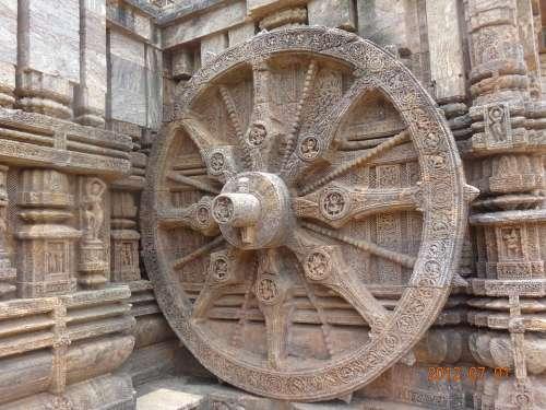 Sun Temple Konark India Wall Sculpture Ancient