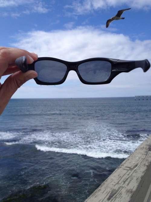 Sunglasses Ocean Sea Sun Summer Water Blue