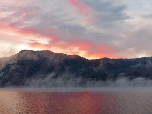 Sunrise Canim Lake British Columbia Canada Lake