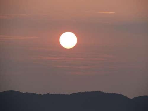 Sunrise Morning Landscape Mountains Karwar India