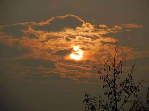 Sunrise Skies Clouds Sky