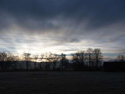 Sunrise Alpine Clouds Sky View