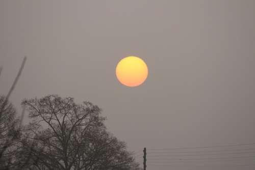Sunrise Morning Sun Sun Landscape Fog