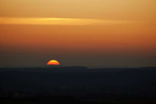 Sunrise Sunset Sun Sky Landscape Morning