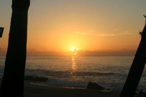 Sunrise Ocean Cabo San Lucas Mexico Lucas Tropical