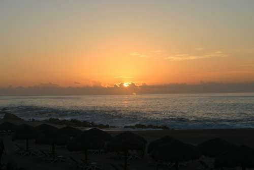 Sunrise Cabo Beach Ocean Sea Coast