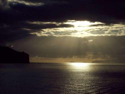 Sunrise Ocean Night Sky Sunset Sky Evening Light