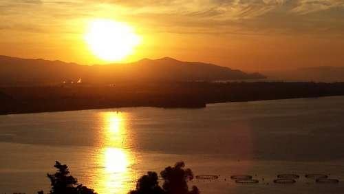 Sunrise Sea Morgenstimmung Sunrise On The Sea