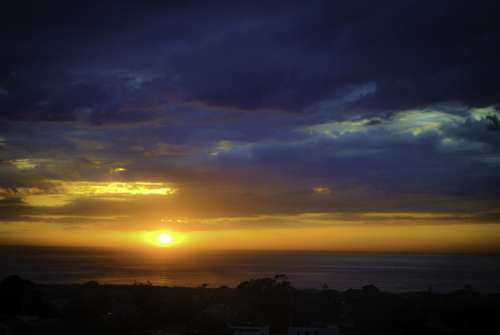 Sunset Clouds Beach Eventide Sky