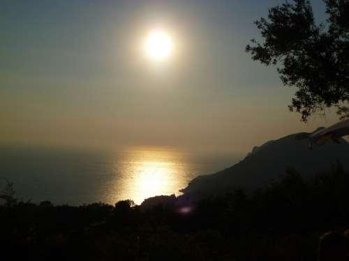 Sunset Emperors Throne Corfu