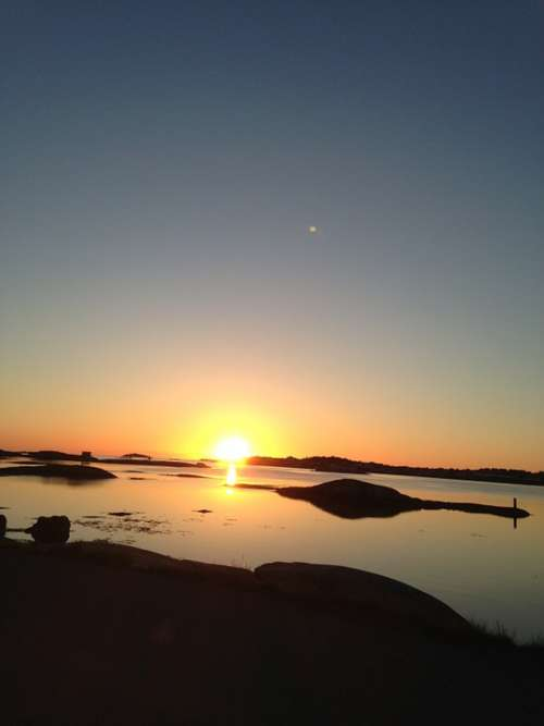 Sunset Solar Sea Water Himmel Sky Blue